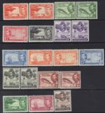 1938 KGVI  Basic set of 14 + 115a 116a 119a 122b 1